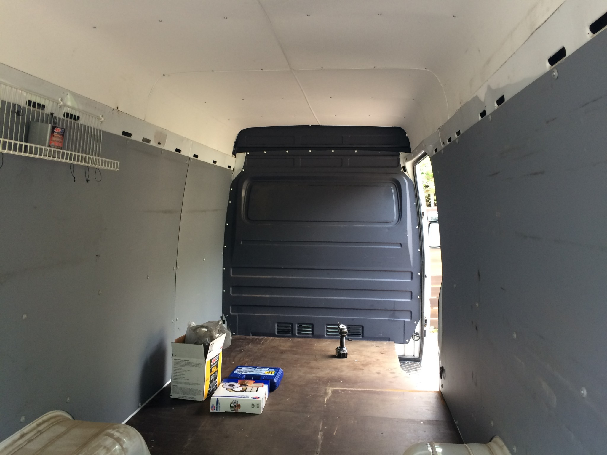 Sprinter with installed bulkhead divider