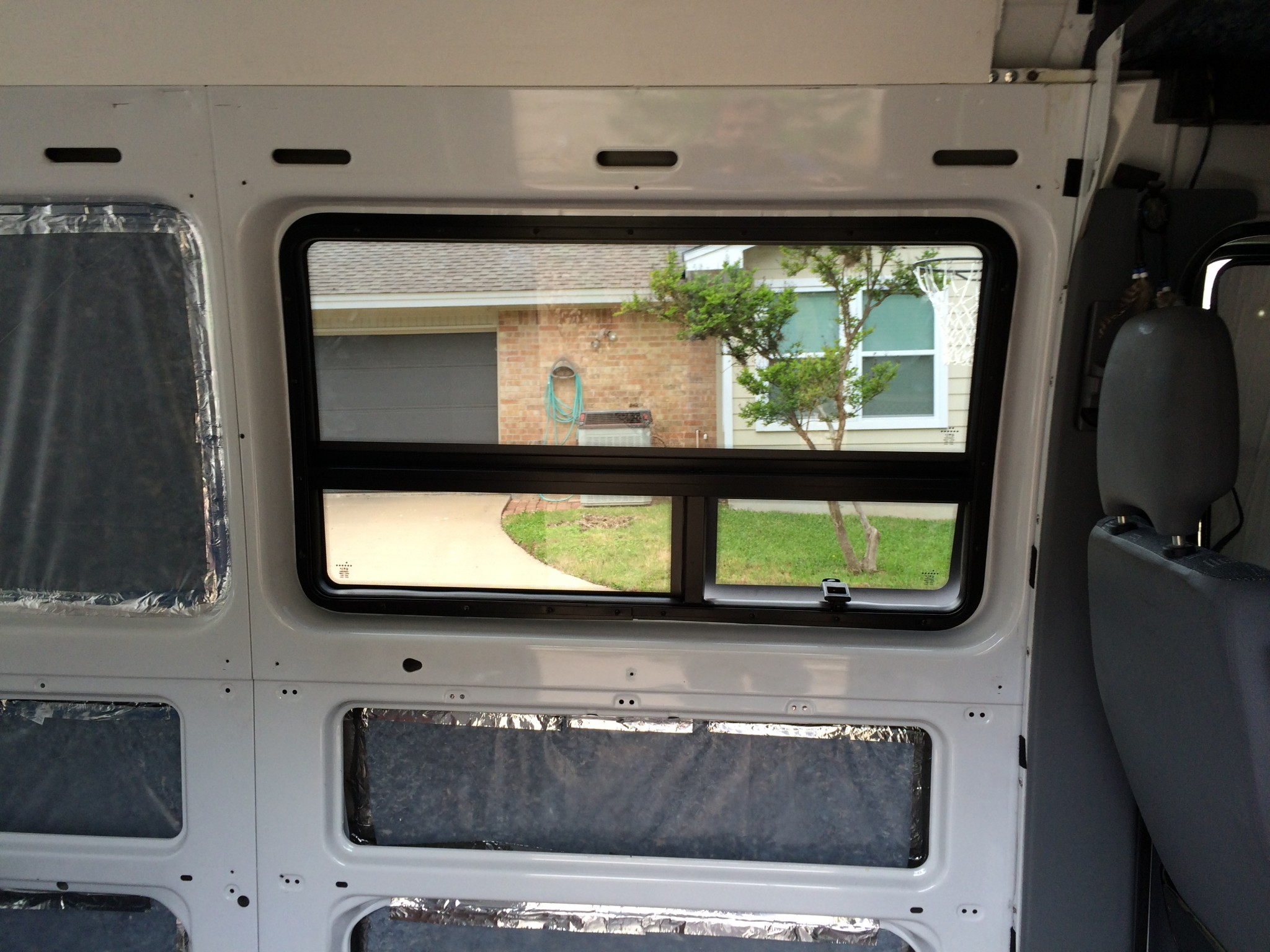 Installed CRL Sprinter Window From The Inside