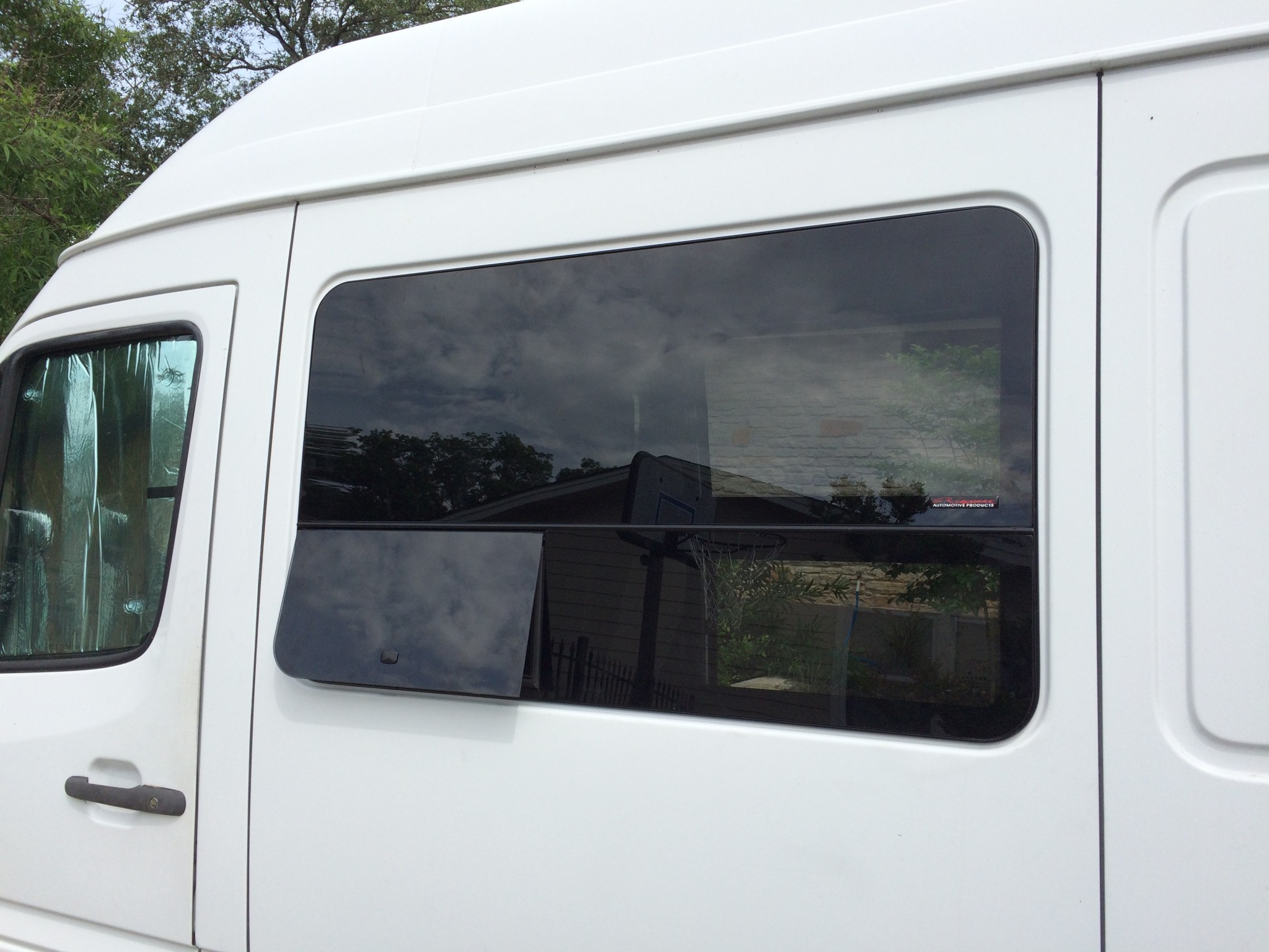 CR Laurence Sprinter Window Installed