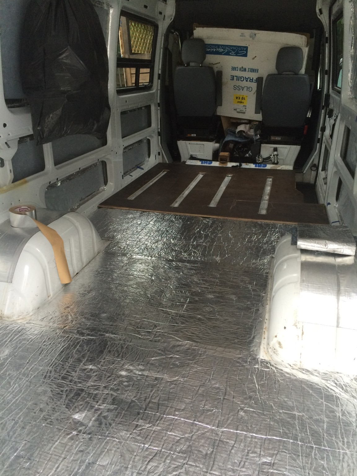 UltraTouch Insulation on the floor