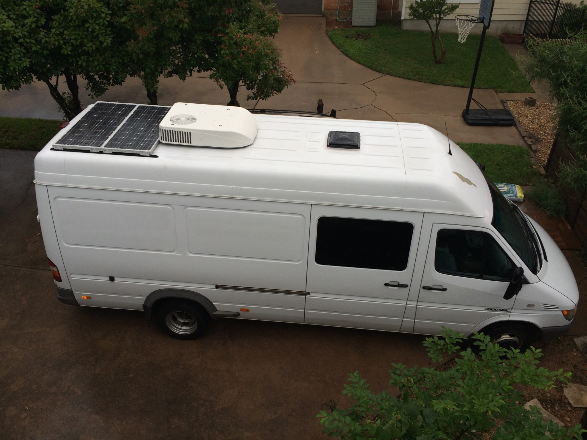Adding A Rear Rooftop Ac To A Sprinter Van Sprinter Camper