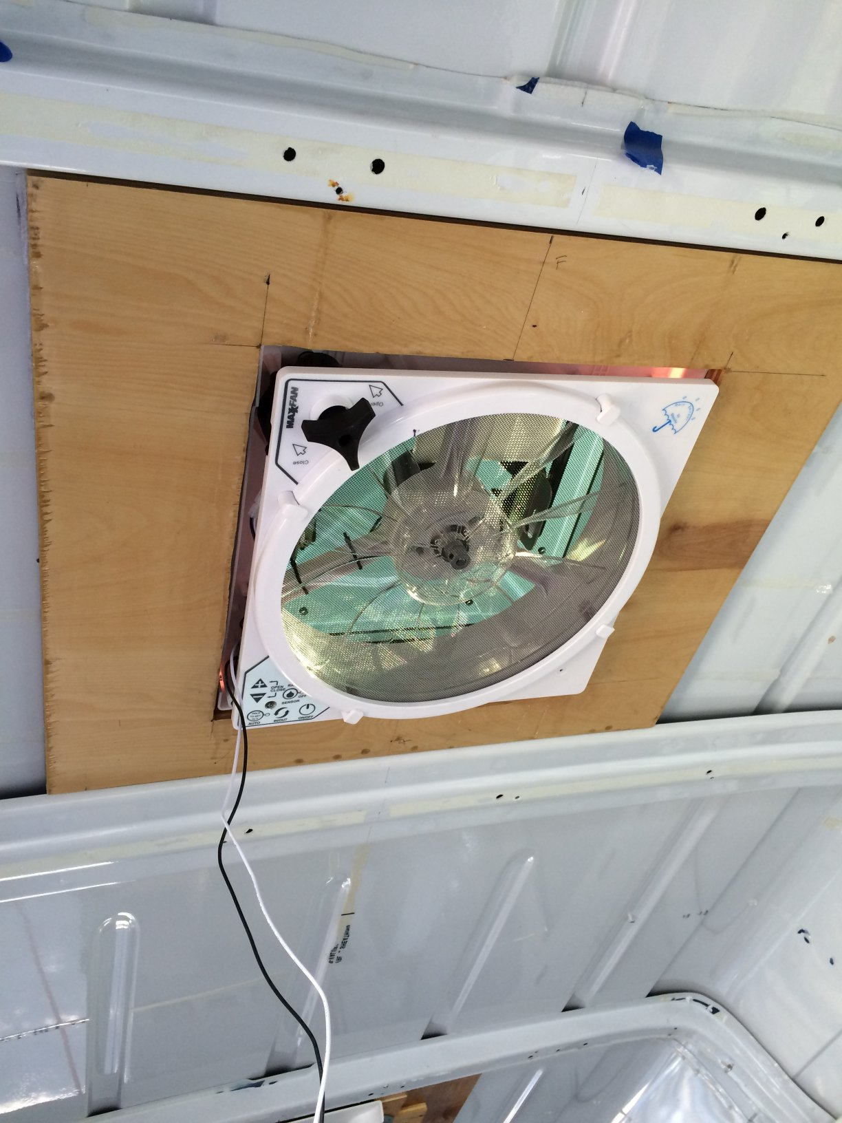 Inside view of the installed Maxxfan