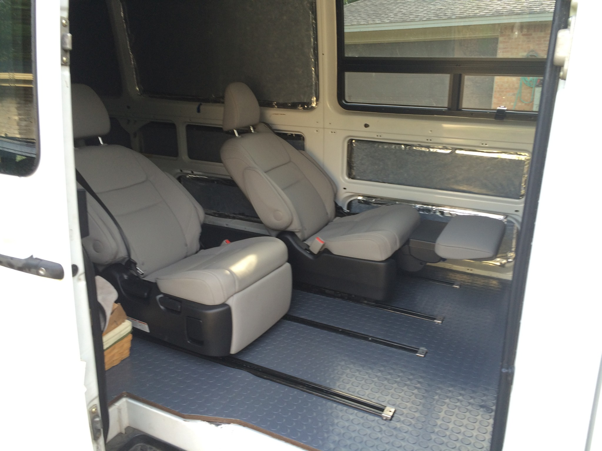 reclining passenger seats in a sprinter sprinter camper. Black Bedroom Furniture Sets. Home Design Ideas