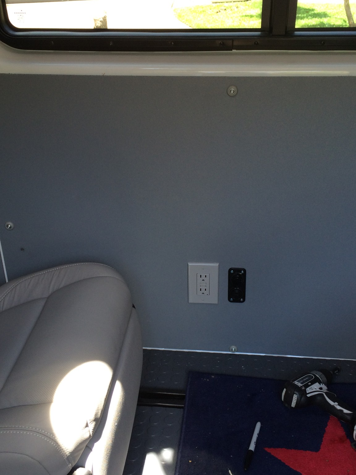 Installed AC/DC outlets in my Sprinter camper van