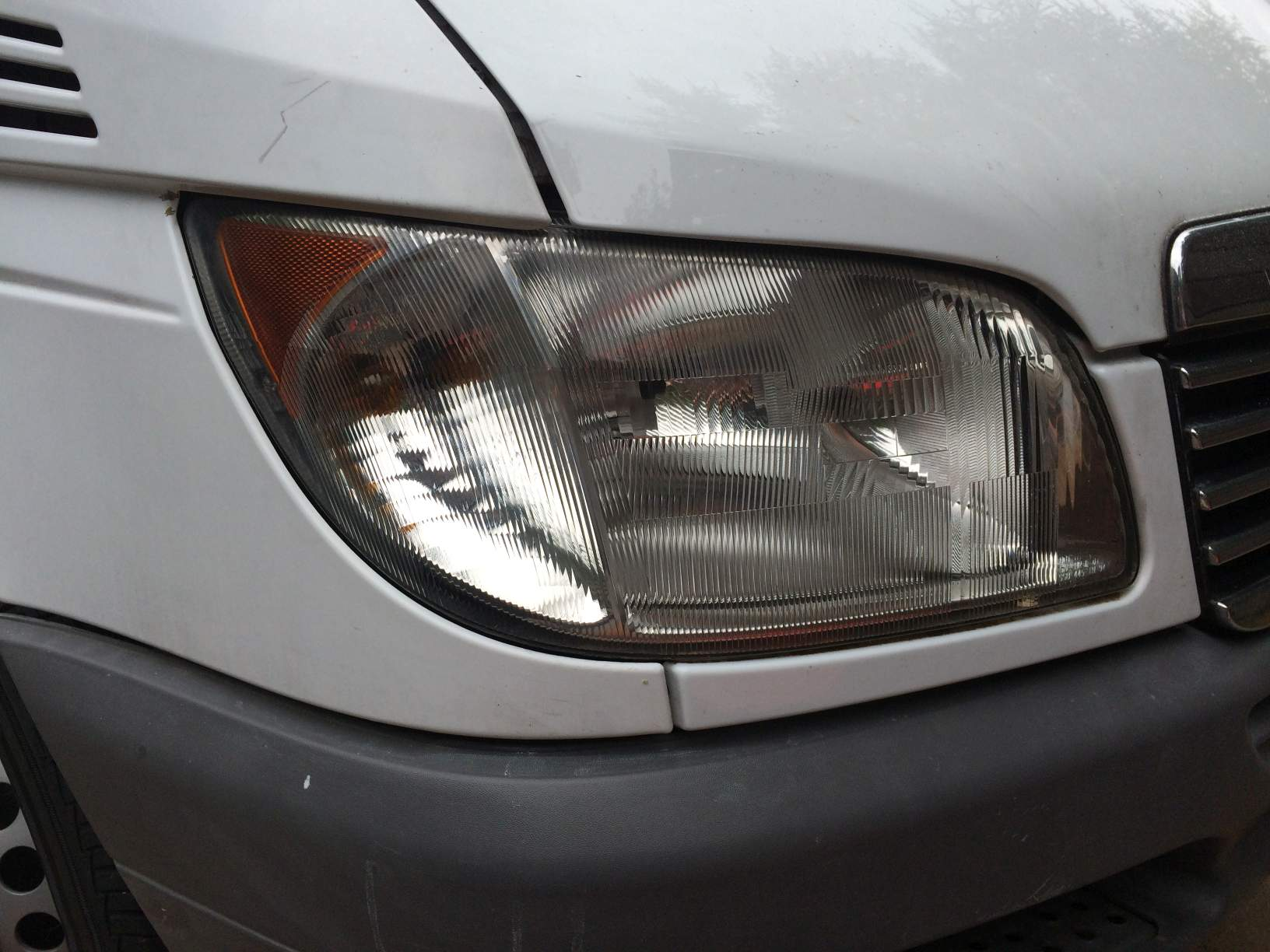 restored sprinter headlight lens