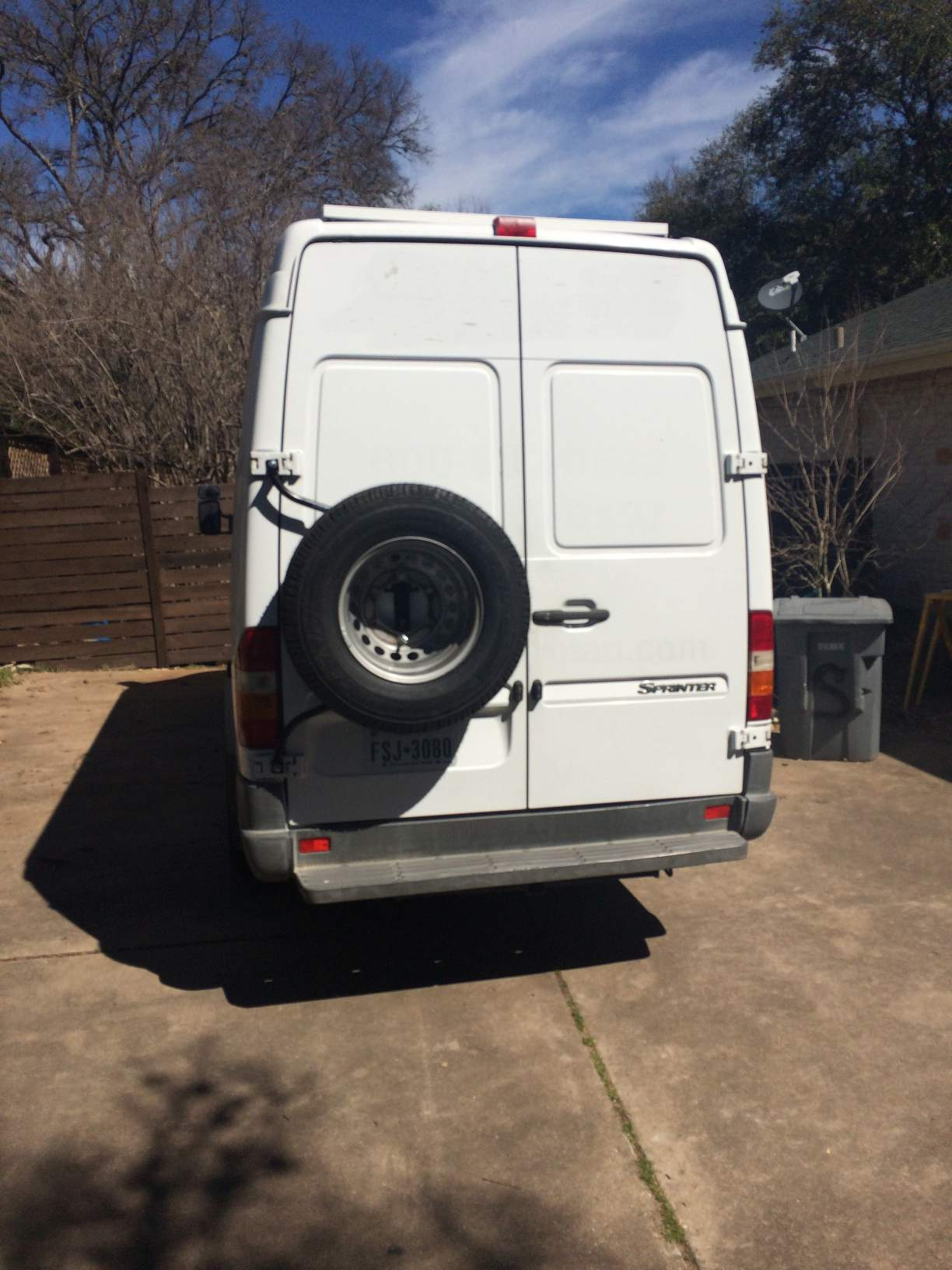 Rear Door Mounted Spare Tire Carrier Sprinter Camper